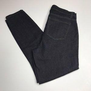 Forever 21+ Black Denim Straight Leg Jeans Short
